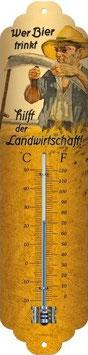 Wer Bier trinkt hilft der Landwirtschaft Thermometer