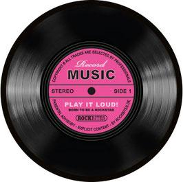 Mouse Pad Music Schallplatte pink