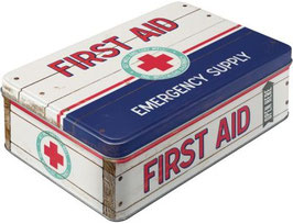 First Aid blau Vorratsdose Flach