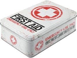 First Aid weiss Vorratsdose Flach