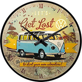 VW Get Lost Wanduhr