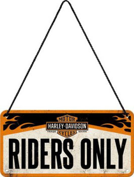 Harley Riders Only Hängeschild