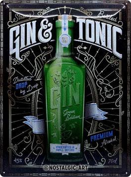 Gin & Tonic Green Bottle