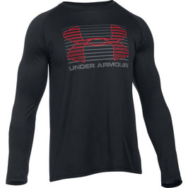 UNDER ARMOUR Tech Rise Up Longsleeve Black / Graphite / Red