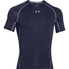 UNDER ARMOUR Heat Gear Kompression Shortsleeve Shirt Navy / Steel