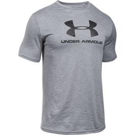 UNDER ARMOUR Sportstyle Branded Tee Overcast Grey / Black