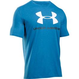 UNDER ARMOUR Sportstyle Logo T-Shirt Brilliant Blue / White