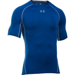 UNDER ARMOUR Heat Gear Kompression Shortsleeve Shirt Royal / Steel
