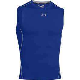 UNDER ARMOUR Heat Gear Kompression Sleeveless Shirt Royal / Steel