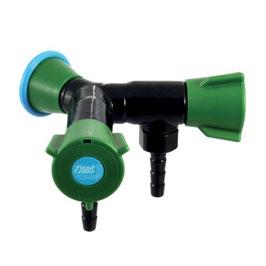 76004 - Nourrice double  sur embase pour eau potable, sur dosseret