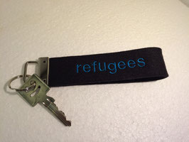 "Schlüsselanhänger ""refugees welcome"""