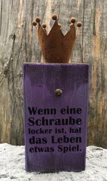 "Kerzenhalter ""lockere Schraube"""