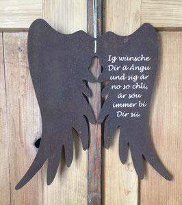 """Engelsflügel """"Ig wünsche dir..."""""""