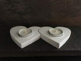 Herz in Herz Teelichthalter