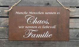 """Schild """"liebevoll Familie"""""""