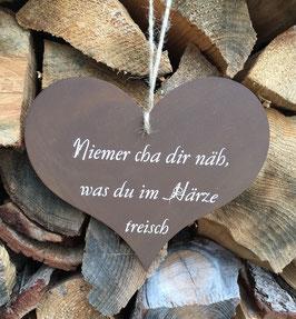"""Herz """"Niemer cha dir näh..."""""""