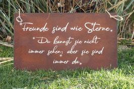 """Schild """"Freunde sind wie Sterne"""""""