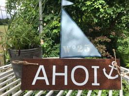 """Schild """"AHOI"""""""