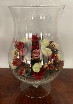 Bolvaas met zijden bloemen