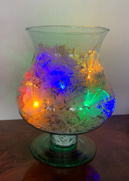 Bolvaas net gekleurde lampjes