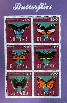 ガイアナ蝶切手