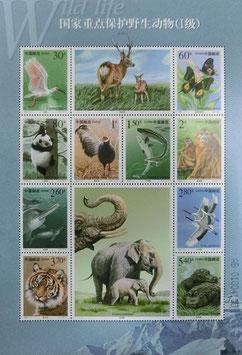 国家重点保護野生動物の大型シート