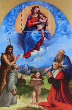 イタリア虹の聖母子