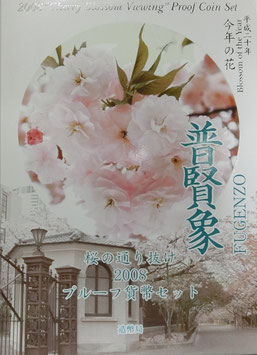 桜の通り抜け2008プルーフ貨幣セット