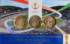 2002FIFAワールドカップ500円ニッケル黄銅貨貨幣セット
