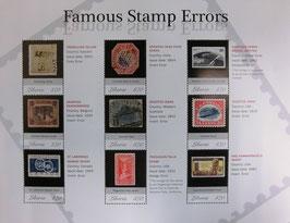 ストックフォト 9枚の切手
