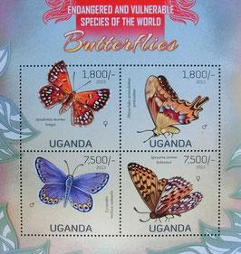 ウガンダ蝶切手
