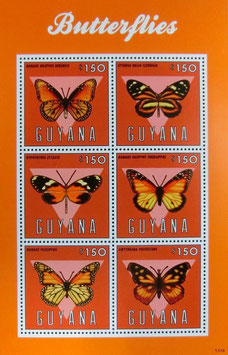 ガイアナ 蝶切手