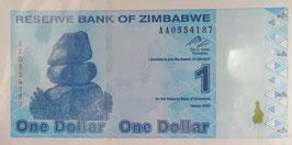 ジンバブエ共和国1$ 未使用