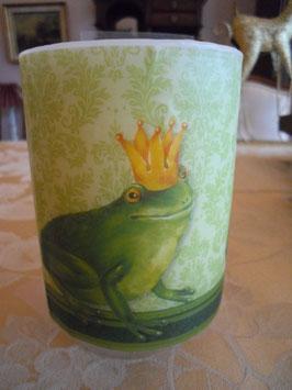 "Kerze ""Froschkönig"" //  Art.-Nr. 002"