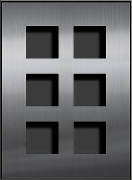 Entry Montageset für 6 Funktionsmodule, zweispaltige Anordnung