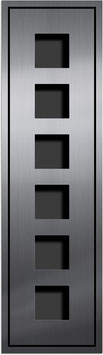 Entry Montageset für 6 Funktionsmodule, einspaltige Anordnung