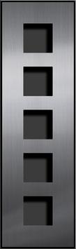 Entry Montageset für 5 Funktionsmodule, einspaltige Anordnung