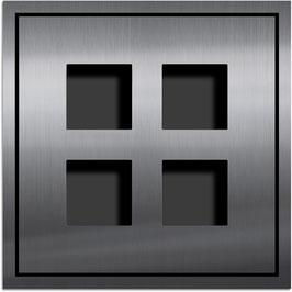 Entry Montageset für 4 Funktionsmodule, zweispaltige Anordnung