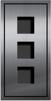 Entry Montageset für 3 Funktionsmodule Serie AMI, einspaltige Anordnung