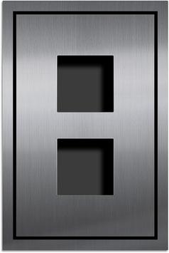 Entry Montageset für 2 Funktionsmodule Serie AMI, einspaltige Anordnung