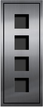 Entry Montageset für 4 Funktionsmodule, einspaltige Anordnung