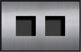Entry Montageset für 2 Funktionsmodule, zweispaltige Anordnung