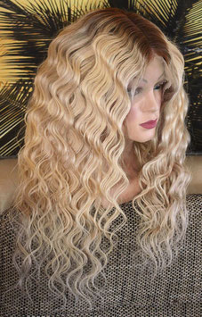 Full Lace Wig Perücke remy Echthaar Curly-Bee
