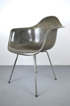 "Charles Eames Fiberglas Armchair ""Elephant Hide Grey""  1st. gen. Rope Edge Zenith Plastics Co. Gardena, California"