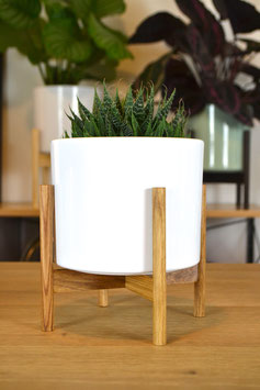 XS Mid Century modern Design Table Planter Blumentopf Eiche