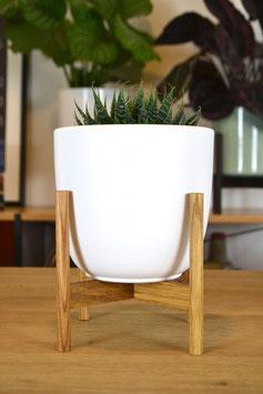 XS Mid Century modern Design Bullet Table Planter Blumentopf Eiche