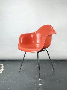 Herman Miller Eames Fiberglass Armchair in Red Orange