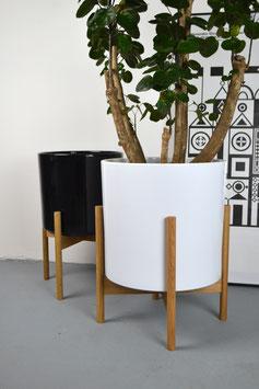 XXL Mid Century modern Design Planter Blumentopf Eiche
