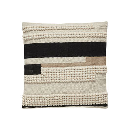 Hübsch Interior Kissen weiß/schwarz/braun