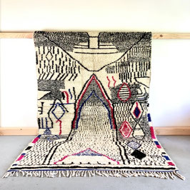 Beni Ourain Azilal Berber Teppich 2,40m x 1,56m
